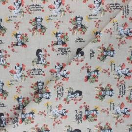 Tissu coton cretonne Vintage Frida - sable x 10cm