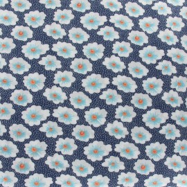 Tissu coton Osami bleu