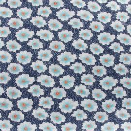 Tissu coton Osami bleu x 10cm