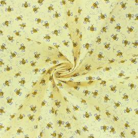 Tissu coton Timeless Treasures - Happy Bee - jaune x 10cm