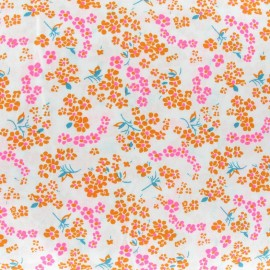 Tissu enduit coton Hanako blanc x 10cm