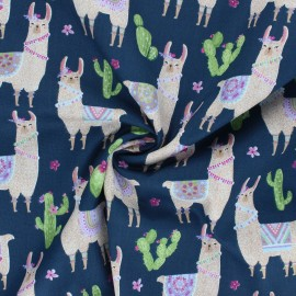Dear Stella Cotton fabric No cause for a-llama - No cause for a-llama x 10cm