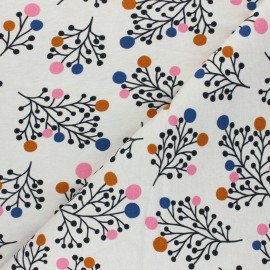 French terry fabric - cream Snowberry x 10cm
