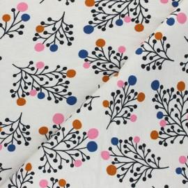 Tissu sweat léger Snowberry - crème x 10cm