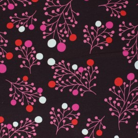 French terry fabric - chocolate Snowberry x 10cm
