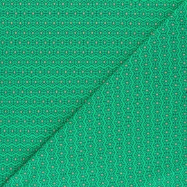 Printed Jersey fabric - green Hexago x 10cm