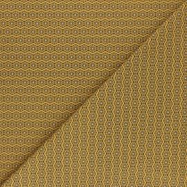 Printed Jersey fabric - mustard yellow Hexago x 10cm