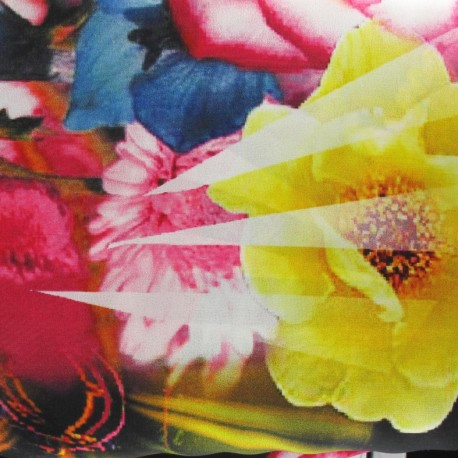 Hawaï printed polyester muslin fabric x 50cm