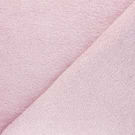 Tissu éponge Bio Relax - rose poudré x 10cm