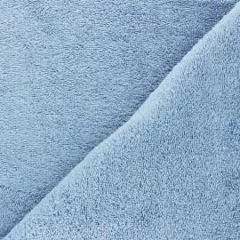 Tissu éponge Bio Relax - bleu ciel x 10cm