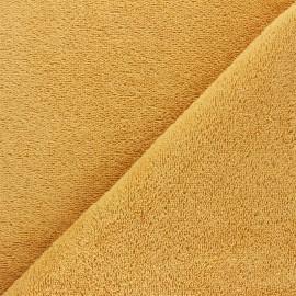 Tissu éponge Bio Relax - jaune tournesol x 10cm