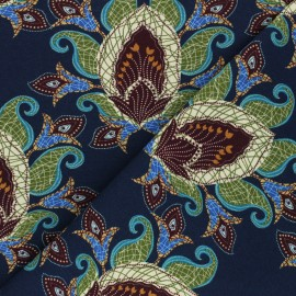 Stenzo jersey cotton fabric - navy blue Zoar x 10cm
