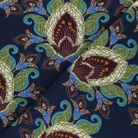 Tissu coton jersey Stenzo Zoar - bleu marine x 10cm