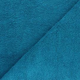 Tissu éponge Bio Relax - bleu canard x 10cm