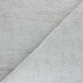 Tissu éponge Bio Relax - gris souris x 10cm