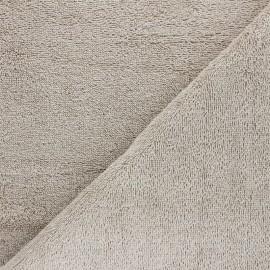 Organic Towel fabric - grey beige Relax x 10cm