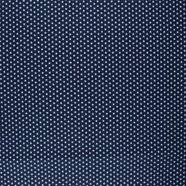 Poppy Coated cretonne cotton fabric - navy blue Graphics Stars x 10cm