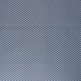 Poppy Coated cretonne cotton fabric - grey Graphics Stars x 10cm