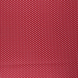 Poppy Coated cretonne cotton fabric - red Graphics Stars x 10cm