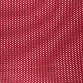 Tissu coton cretonne enduit Poppy Graphics Stars - rouge x 10cm