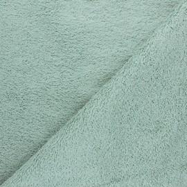 Tissu éponge Bio Relax - vert sauge x 10cm
