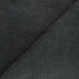 Organic Towel fabric - anthracite Relax x 10cm