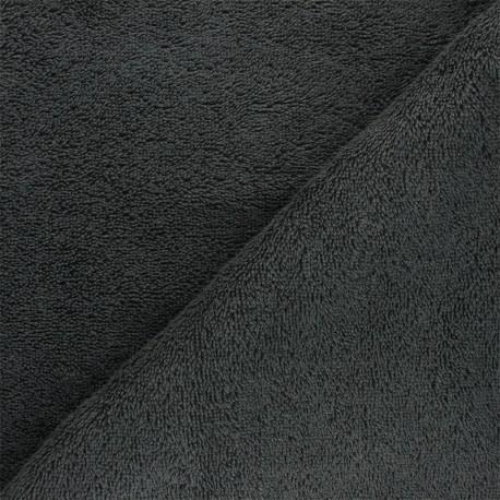 Tissu éponge Bio Relax - gris anthracite x 10cm
