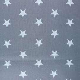 Poppy Coated cretonne cotton fabric - grey Stars x 10cm