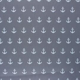 Tissu coton cretonne enduit Poppy Anchor Party - gris x 10cm