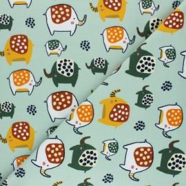 Poppy Sweatshirt fabric - mint green Elephant x 10cm