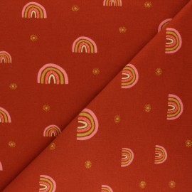 Poppy Sweatshirt fabric - orange Rainbow x 10cm