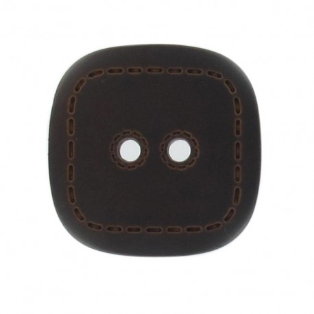 Bouton imitation cuir carré