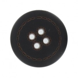 Bouton imitation cuir rond
