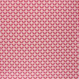 Tissu coton cretonne enduit Poppy Floral Fantasy  - rose x 10cm