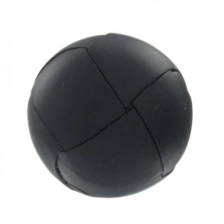 Bouton cuir véritable noir
