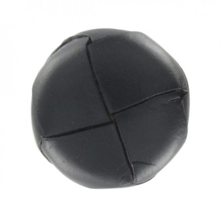 Bouton cuir véritable anthracite