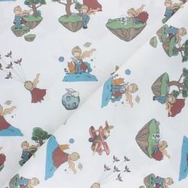Tissu coton cretonne Le Petit Prince - blanc x 10cm