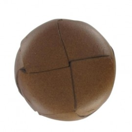 Genuine leather button - chesnut