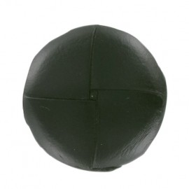 Genuine leather button - dark green