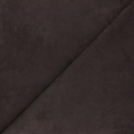 Tissu Suédine élasthanne Joliesse - marron x 10cm