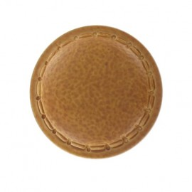 Bouton imitation cuir rond couture