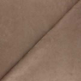 Suede elastane fabric - coffee Joliesse x 10cm