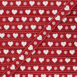15 mm Grosgrain Ribbon - red Christmas love x 1m