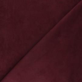 Suede elastane fabric - wine Joliesse x 10cm