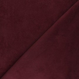 Tissu Suédine élasthanne Joliesse - lie de vin x 10cm