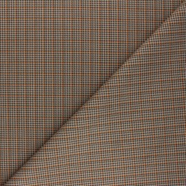 Checked Suede elastane fabric - orange Cyrus x 10cm