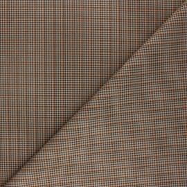 Tissu Suédine élasthanne à carreaux Cyrus - orange x 10cm