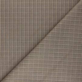 Checked Suede elastane fabric - beige Cyrus x 10cm