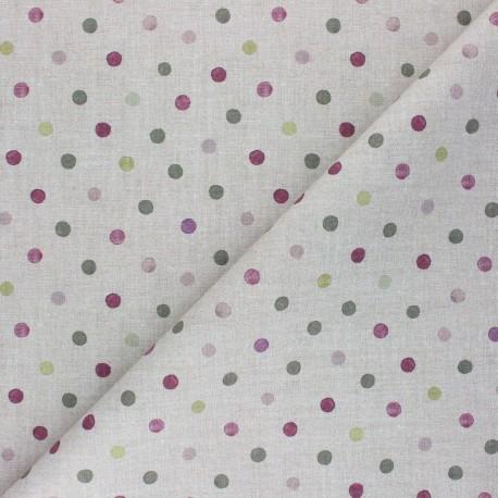 Cretonne Cotton fabric - linen Polka Dot x 10cm