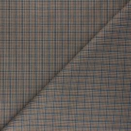Tissu Suédine élasthanne à carreaux Cyrus - bleu x 10cm
